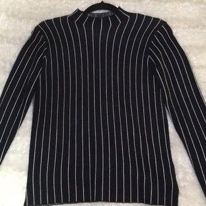 Zara black and white stripe soft sweater Sz small